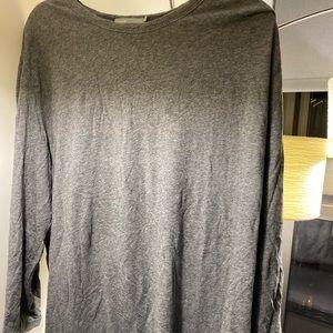 Vince men's sweater gray long sleeve t shirt xxl